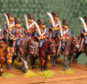 15mm, Napoleonic British 1st KGL Light Dragoons 1813-1815 AB 12 figures